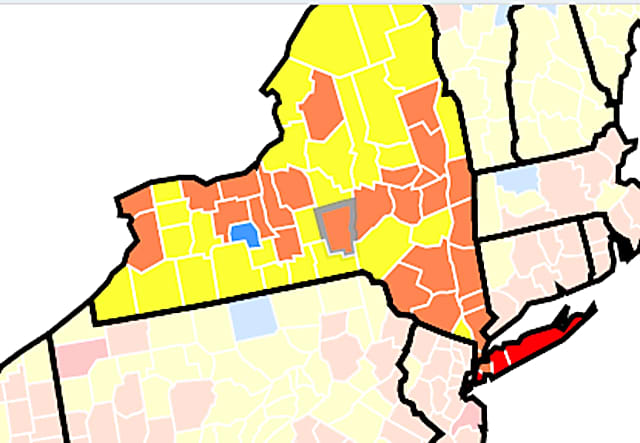 COVID-19: More NY Counties Reach CDC Level Recommending Indoor Mask Use In Public Settings