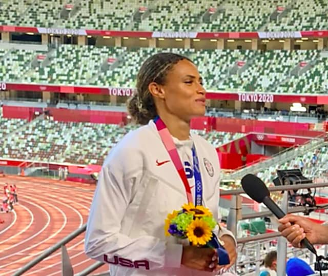 NJ's Sydney McLaughlin Sets New Olympic World Record To Win Gold - Wyckoff-Franklin Lakes Daily Voice