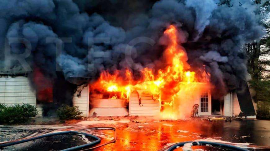 PHOTOS: Fire Ravages West Amwell Garage | Warren Hunterdon ...